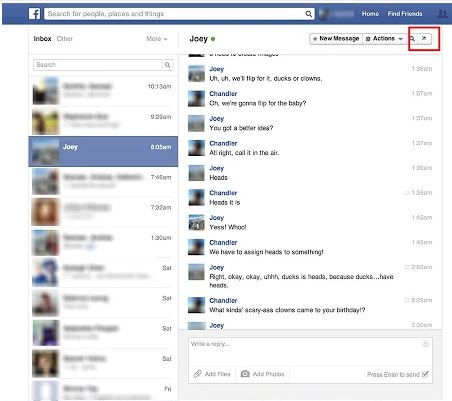 Facebook Chat Pop-Outs