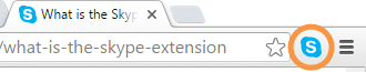 Skype extension icon in browser toolbar