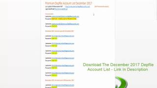 Depfile Premium Accounts List December 2017 - 163 Accounts