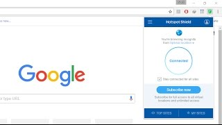 How To Use Hotspot Shield VPN Proxy Software Extension In Google Chrome