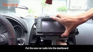 How to remove and upgrade MAZDA CX-5 ATENZA factory radio to new car gps radio installation