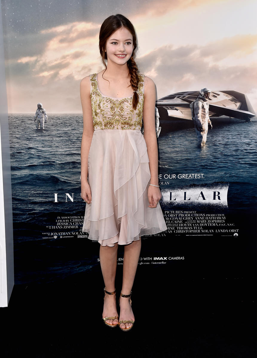 "HOLLYWOOD, CA - OCTOBER 26: Actress Mackenzie Foy attends the premiere of Paramount Pictures' ""Interstellar"" at TCL Chinese Theatre IMAX on October 26, 2014 in Hollywood, California. (Photo by Frazer Harrison/Getty Images)"